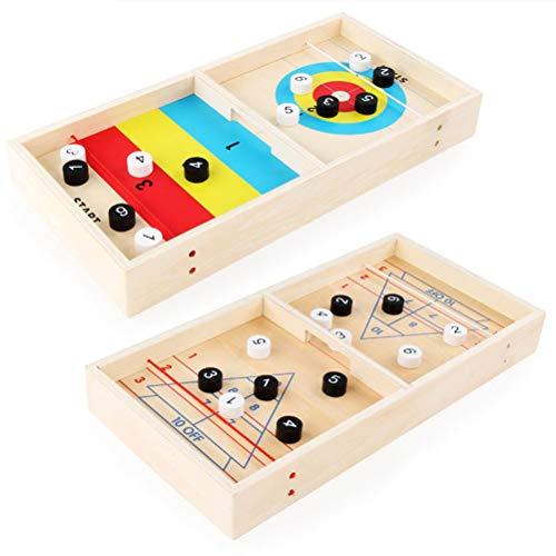Uyuke Hölzerne Mini Ice Fox Ball Desktop Shuffleboard Spiel Lernspielzeug Unterhaltung Brettspiel