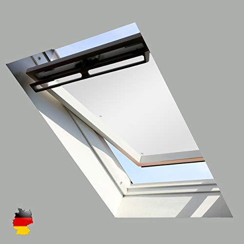 Sonnenschutz für Dachfenster | Perfekt für Velux und Roto Fenster | 100% Verdunkelung | Sonnen und UV Schutz | GGU, GPU, GHU, GTU, GXU, GGL, GPL, GHL, GTL, GXL (Perlweiß, 76x93)
