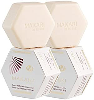 Makari Classic Caviar Enriched Treatment Soap 7.0 oz – Moisturizing & Brightening Bar Soap for Face & Body – Anti-Aging Cleanser Combats Dryness, Dullness, Wrinkles & Blemishes – 2 PACK