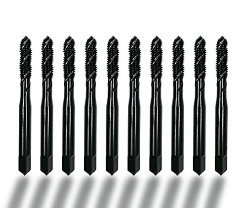 DelitonGude 10pcs Machine Screw Tap Set 5% Cobalt Spiral Flute Drill Taps Metric M6 Thread Tapping Tool(M6)