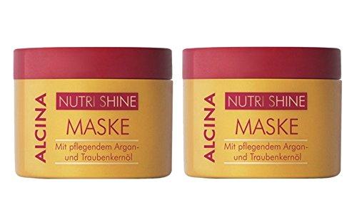 2er Alcina Nutri Shine Maske mit pflegendem Argan und Traubenkernöl je 200 ml = 400 ml