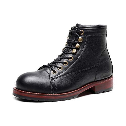 XINDONG Botas de lluvia impermeables para mujer, botas Chelsea, botas Martin, puntera redonda, botas casuales, color negro, 37