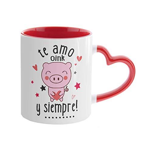 Kembilove. Tazas de Desayuno para Parejas – Taza de Café con Frase Graciosa Te Amo y Siempre! – Tazas para Regalar el día de los Enamorados – Regalos Originales