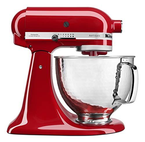 KitchenAid KSM150PSHER KitchenAid Artisan Mixer with Custom Hammered Bowl, Empire Red