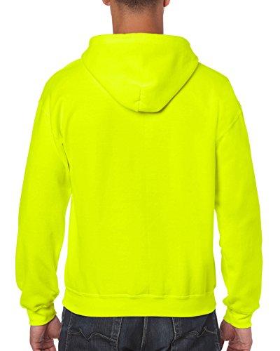 Gildan Men's Fleece Zip Hooded Sweatshirt Safety Green Large