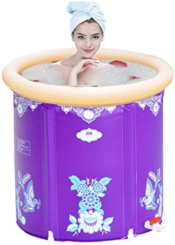 WU LAI Praktische Tragbare Badewanne     Aufblasbare Badewanne Für Kinder     Erhhte Badewanne Zum Aufklappen     Aufblasbare Badewanne,lila-75x70cm