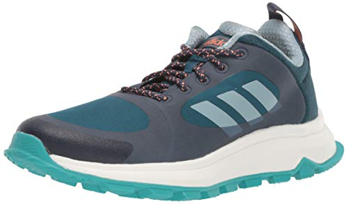 adidas Women's Response Trail X Running Shoe, Trace Blue/ash Grey/tech Mineral, 9 M US