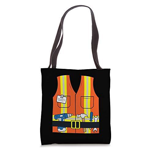 Construction Worker Gift Safety Vest Tools Kids Men Women Tote Bag