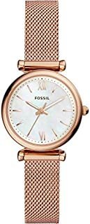 Fossil Carlie Women's Mother of Pearl Dial Stainless Steel Watch - ES4433