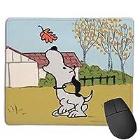 ハッピーフォールスヌーピー マウスパッド ゲーミング オフィス 高級感 おしゃれ 防水 耐久性が良い 滑り止めゴム底 ゲーミングなど適用 マウスの精密度を上がる