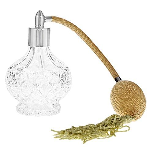 100mm Botella de Perfume Vaso Largo Tubo Estrellas Atomizador de Pulverización Estilo Vintage