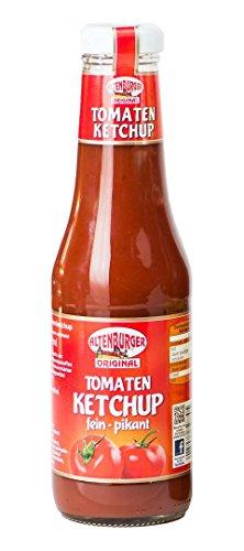 Altenburger Original Tomaten Ketchup I 450ml Flasche Tomatenketchup I Basis für Tomatensoße I Dip oder als Pomes Soße