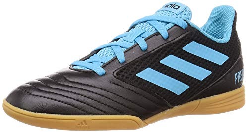 adidas Predator 19.4 IN Sala J, Zapatillas de Fútbol Unisex Adulto, Multicolor (Core Black/Bright Cyan/Solar Yellow G25830), 38 EU