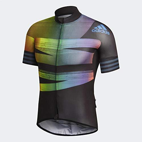 adidas Adistar.Pride Camiseta, Hombre, Negro/azuglo, S