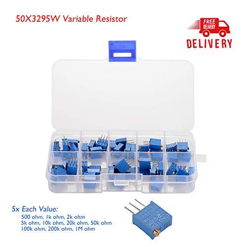 5 x 50k 3296 Multiturn Variable Potentiometer Trimmer Pot Resistor