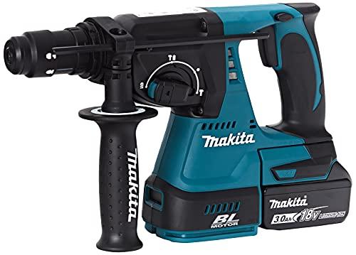 Makita 4260481136919 Makpac-Perforador de cincel inalámbrico (18 V/2 x 3,0 Ah, batería y Cargador en Estuche
