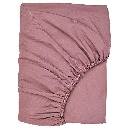 ULLVIDE - Sábana bajera ajustable (180 x 200 cm), color rosa oscuro