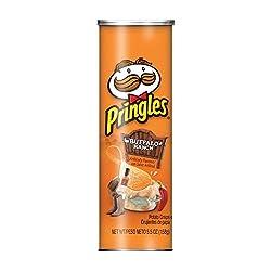 PringlesPotato Crisps Chips, Buffalo Ranch Flavored, 5.5 oz Can
