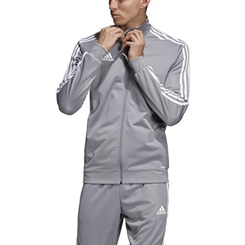 adidas Men's Tiro 19 Track Suit (S Jacket/S Pants, Grey/White)