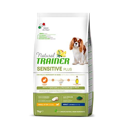 Trainer Natural Sensitive Plus - Cibo per Cani Small&Toy Adult con Coniglio-Riso-Olio 7kg