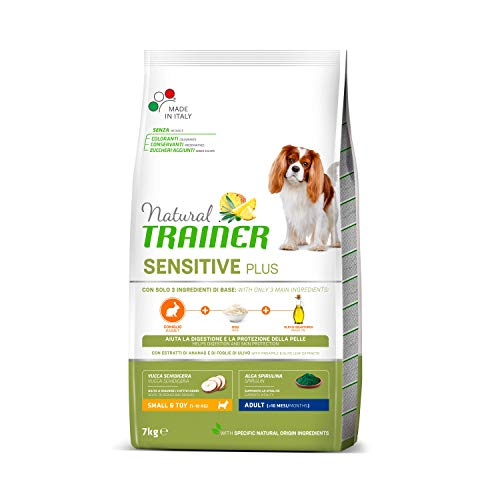 Trainer Natural Sensitive Plus - Cibo per Cani Small&Toy Adult con Coniglio-Riso-Olio 7kg