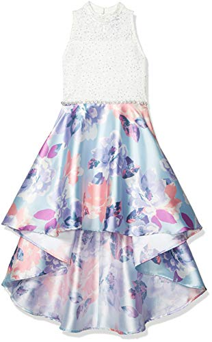Speechless Girls' High-Low Sleeveless Party Dress, Blue/Lavender, 14