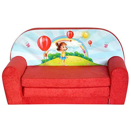 FORTISLINE Kindersofa Mini zum Aufklappen Girl Red W386_08