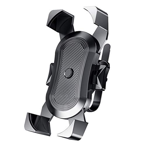 Abaodam Soporte de teléfono para bicicleta de motocicleta Anti- Shaking Rotación de 360 grados Soporte de manillar para moto (negro)