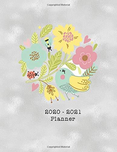 2020-2021 Planner: Cute Bird 2020-2021: 2 Year Planner with...