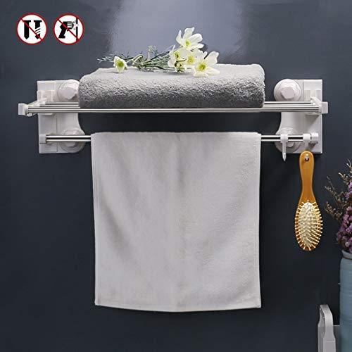Mr.T Keuken Storage Rack, badkamer plank Traceless Instal en douche tandstang met doek ophangsysteem kunststof handdoekwarmer