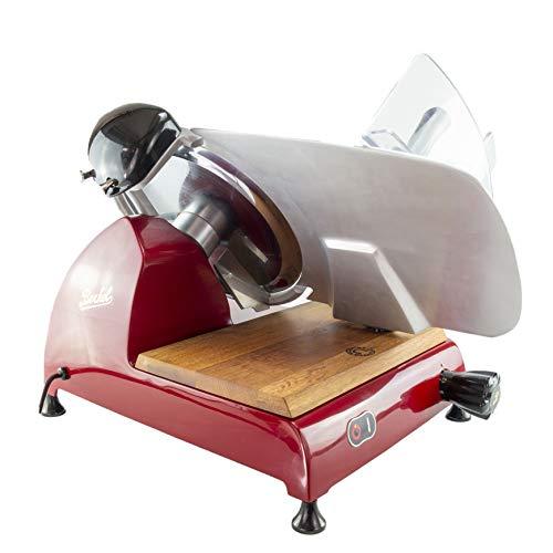 Palatina Werkstatt ® Berkel Red Line 300 | Profi-Aufschnittmaschine/Allesschneider | Messerdurchmesser 300 mm | rot | mit integriertem Schleifapparat | + Fassholzbrett| VK: 1648,-- €
