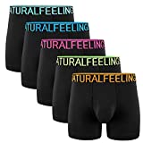 5Mayi Mens Underwear Boxer Briefs Cotton Black...