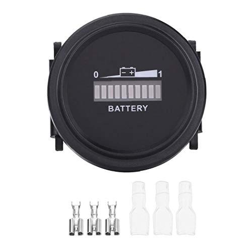 Cesta Medidor de batería: Indicador de batería Indicador de batería LED Digital del metro del indicador para el carro de golf