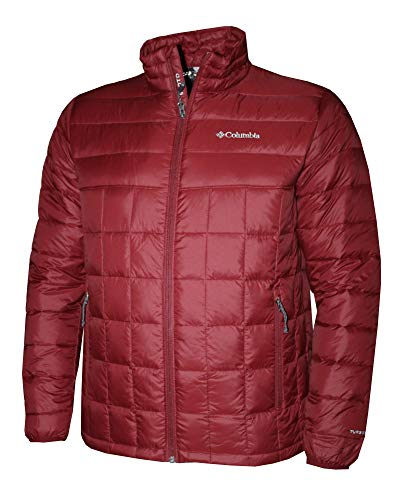 Columbia Men's Mist Falls 590 TurboDown Omni Heat Jacket (Red Element, M)