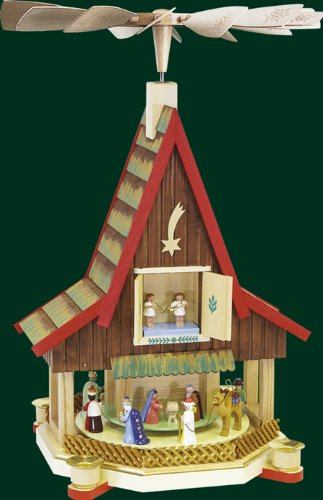Advent house small pyramid Pyramid house handcrafted Seiffen 53cm Ore Mountains NEW