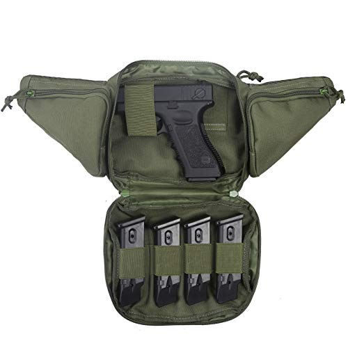 Concealed Carry Fanny Pistol Pouch - , Ultimate Fanny Pack Holster, Waist Gun Bag, Tactical Gun Pouch, Fits 1911 and More (Army Green)