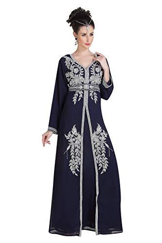 Maxi 6713 - Vestido de novia para cóctel Azul azul marino XXL