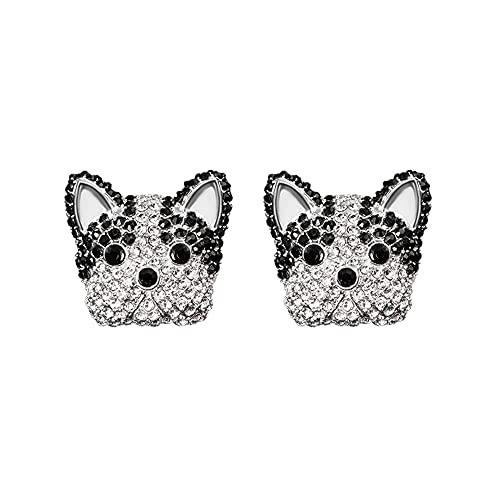 2 Pieces Bling Crystal Diamond French Bulldog Car Clip,Aromatherapy Air Fresheners,Fashion Auto Interior Decoration Accessories for Girls Women (French-Bulldog)
