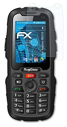 atFolix Schutzfolie kompatibel mit RugGear RG310 Folie, ultraklare FX Bildschirmschutzfolie (3X)