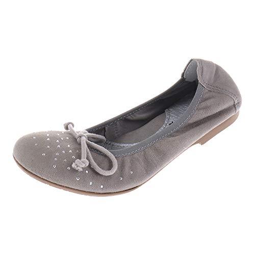 Hassia Acebos 7006 - Zapatos para niña Bailarina Siena Safari Gris