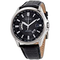 Citizen Eco-Drive Black Dial Black Leather Men's Watch