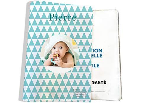 Protège carnet de santé personnalisable pour bébé - photo et texte de votre choix (P2083-photo)