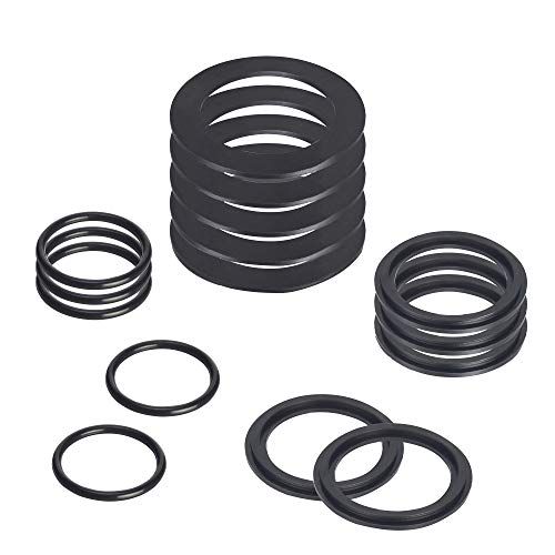 SUNGIFT 25076RP O-Ring Kit Rubber Washers for Pool Plunger Valves, Strainer Washer and Ring Kit for 1-1/2in Fittings Replacement Gasket(15 pcs) - 10745, 10262 and 10255