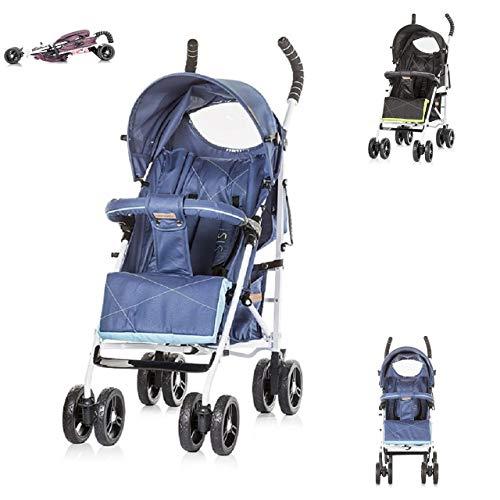 Chipolino Kinderwagen Buggy Sisi Kollektion 2018, Buggy, Rückenlehne einstellbar blau