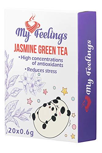 My Feelings Jasmin-Grüntee - Pulverextrakt, 20 Sticks x 0,6g