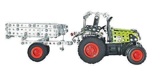 RC Auto kaufen Traktor Bild 3: Tronico 09501 - Metallbaukasten Traktor Claas Axion 850 mit Kippanhänger und Fernsteuerung, Maßstab 1:64, Micro Serie, grün, 462 Teile*