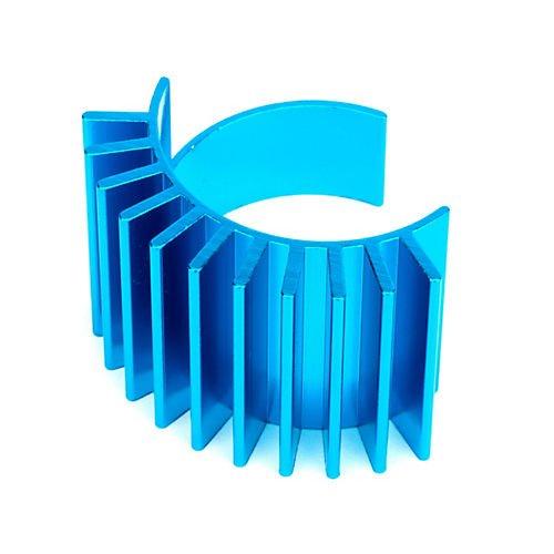 Tamiya 300053664 - Corpo di Raffreddamento Motore in Alluminio DF-02/TT-01 Colore: Blu