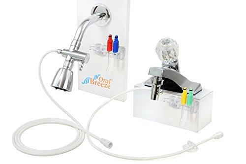 Oral Breeze ShowerBreeze & QuickBreeze Combo Pack, Water Jet Dental Irrigators, Treats Gum Disease Naturally, Use 15 Seconds Daily