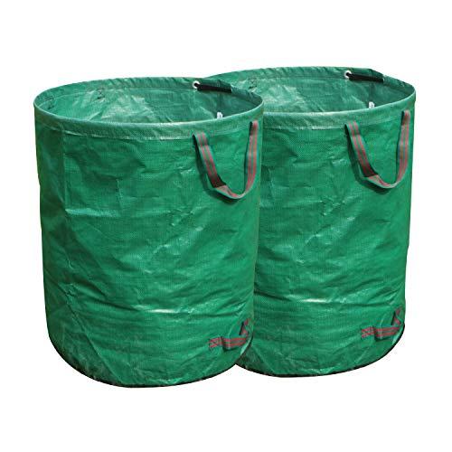 FLORA GUARD 272Lガーデンバッグ - ガーデンバケツ 大型庭用袋 自立式 折り畳み 再利用可能な(2パック)