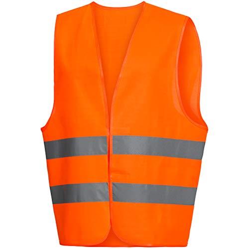 NITRAS Chaleco de Alta Visibilidad - Chaleco de Seguridad Reflectante - para Mujeres & Hombres - Naranja L
